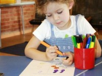 Colouring and numbers at Seend Playgroup