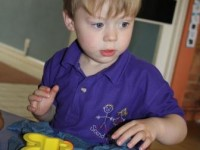 Fun with playdough at Seend Playgroup