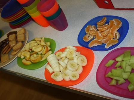 Snack time at Seend Playgroup