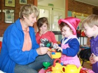 Time for tea at Seend Playgroup