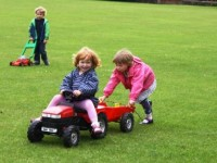 Tractors rides round The Lye Field