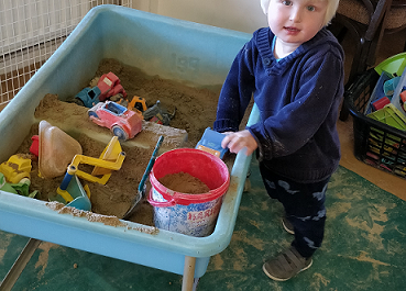 Indoor sand table play